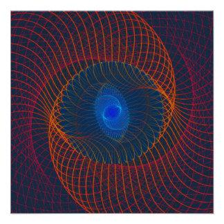 Arte abstracto del vórtice del fractal