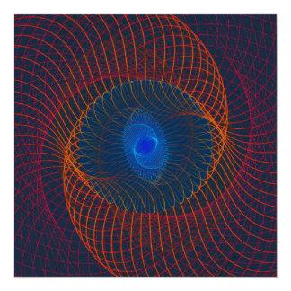 Arte abstracto del vórtice del fractal invitación 13,3 cm x 13,3cm