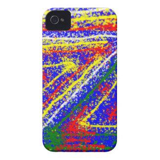 arte abstracto del zzz ZAZZLING: Rayas del azul Carcasa Para iPhone 4 De Case-Mate