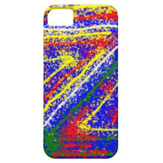 arte abstracto del zzz ZAZZLING: Rayas del azul Funda Para iPhone SE/5/5s