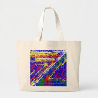 arte abstracto del zzz ZAZZLING Rayas del azul re Bolsas De Mano