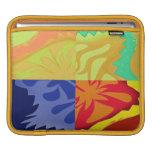 Arte abstracto en 4 diversos estilos y colores mangas de iPad