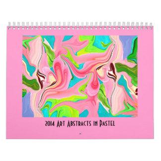 Arte abstracto en colores pastel calendarios de pared