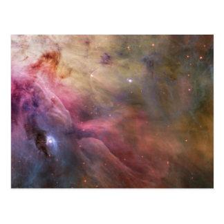 Arte abstracto encontrado en la nebulosa de Orión Tarjeta Postal