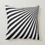 Arte abstracto enrrollado blanco y negro - almohad almohadas