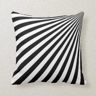 Arte abstracto enrrollado blanco y negro - cojín