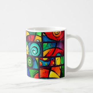 Arte abstracto enrrollado de Swirly Taza
