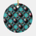 Arte abstracto enrrollado retro ornamento para arbol de navidad