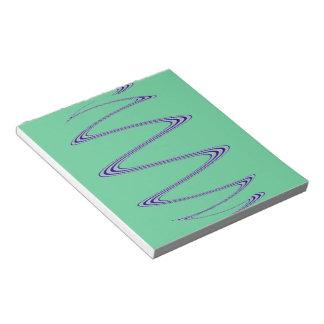 Arte abstracto espiral azul blocs