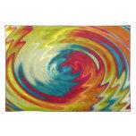 Arte abstracto espiral colorido manteles