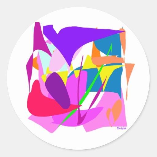 Arte abstracto etiquetas