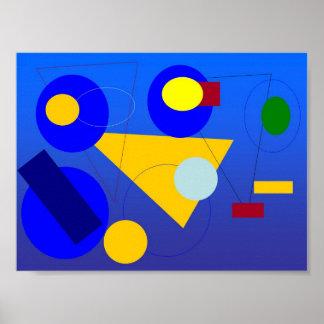 Arte abstracto - fase azul póster