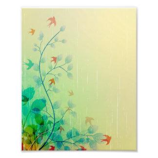 Arte abstracto floral de la primavera moderna fotografías