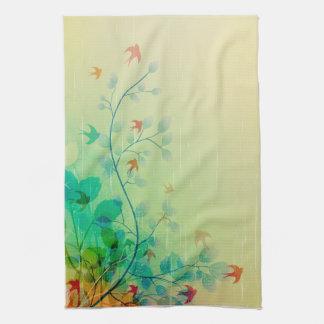 Arte abstracto floral de la primavera moderna toallas de mano