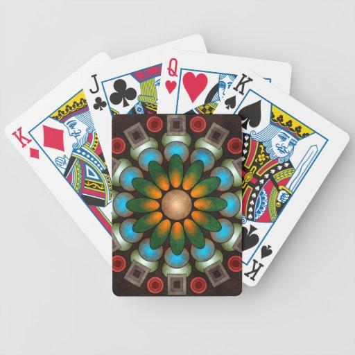 Arte abstracto floral lindo del vector barajas de cartas