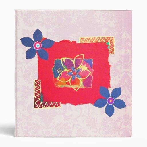 "Arte abstracto floral rojo carpeta 1"""