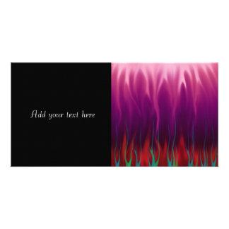 Arte abstracto - fuego - llamas tarjeta personal con foto