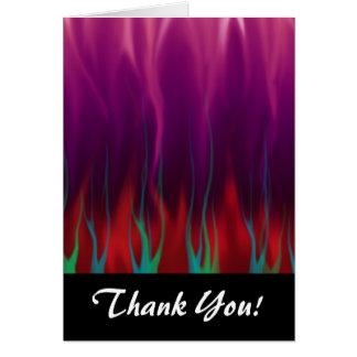 Arte abstracto - fuego - llamas tarjeta pequeña