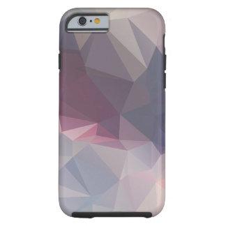 Arte abstracto gris rosado del modelo de la funda de iPhone 6 tough