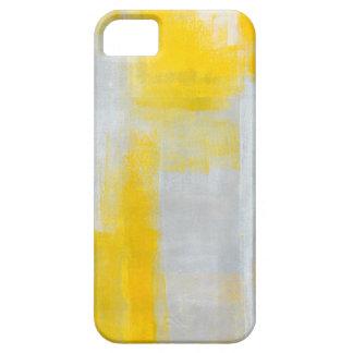 """Arte abstracto gris y amarillo """"claro"""" iPhone 5 fundas"""