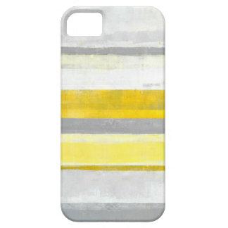 """Arte abstracto gris y amarillo del """"limón"""" funda para iPhone 5 barely there"""