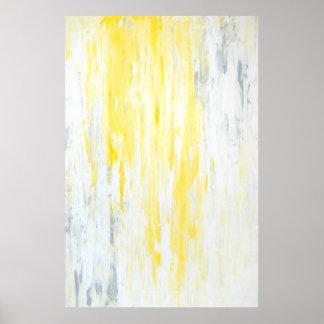"""Arte abstracto gris y amarillo """"subestimado"""" póster"""
