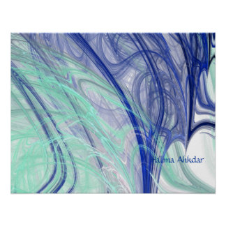 arte abstracto Halima Ahkdar de las plumas de la a Póster