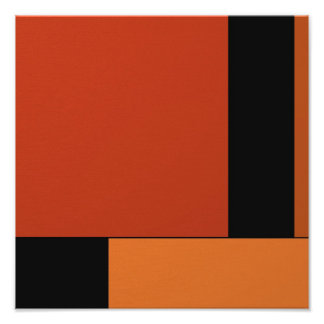 Arte abstracto Halloween retro anaranjado negro mo Impresión Fotográfica