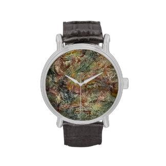 Arte abstracto helado del otoño reloj de mano