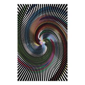 Arte abstracto hermoso de Digitaces - hacia fuera Papeleria Personalizada