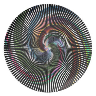 Arte abstracto hermoso de Digitaces - hacia fuera Plato De Cena