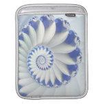 Arte abstracto hermoso de Shell del mar azul y bla Manga De iPad