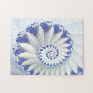 Arte abstracto hermoso de Shell del mar azul y bla Rompecabezas