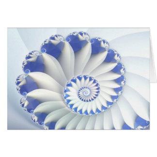Arte abstracto hermoso de Shell del mar azul y bla Tarjeton