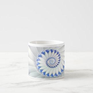 Arte abstracto hermoso de Shell del mar azul y bla Tazas Espresso