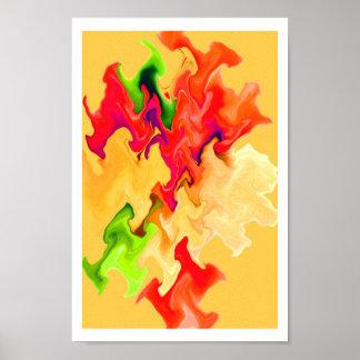 Arte ABSTRACTO hermoso en colores de la fruta y de Póster
