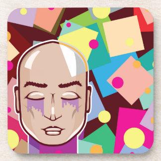 Arte abstracto humano del vector de los colores de posavaso
