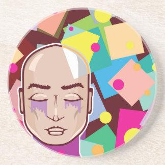 Arte abstracto humano del vector de los colores de posavasos diseño