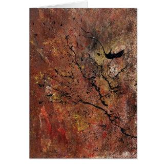 Arte abstracto - incendio fuera de control tarjeta de felicitación