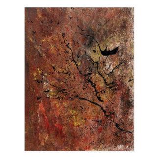 Arte abstracto - incendio fuera de control tarjetas postales