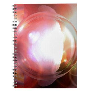 Arte abstracto libro de apuntes con espiral