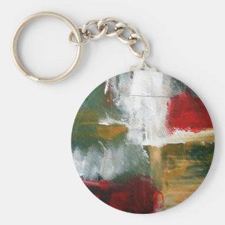 Arte abstracto llavero redondo tipo pin
