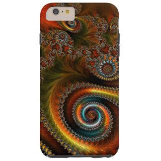 Arte abstracto loco funda para iPhone 6 plus tough