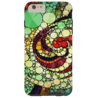 Arte abstracto loco funda de iPhone 6 plus tough