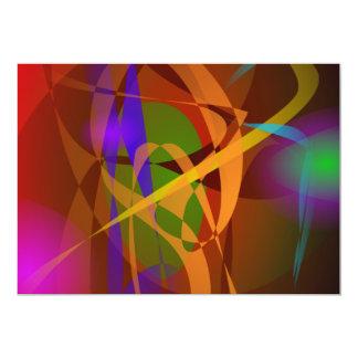 """Arte abstracto luminoso de Brown Digital Invitación 5"""" X 7"""""""