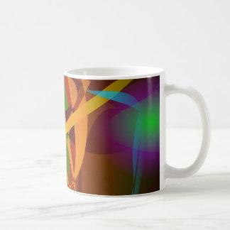 Arte abstracto luminoso de Brown Digital Taza