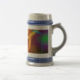 Arte abstracto luminoso de Brown Digital Tazas