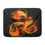 Arte abstracto Macbook de la bola de fuego favorab Fundas Para Macbook Pro