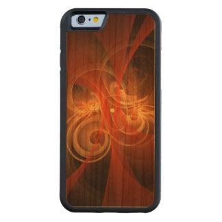 Arte abstracto mágico de la mañana funda de iPhone 6 bumper cerezo