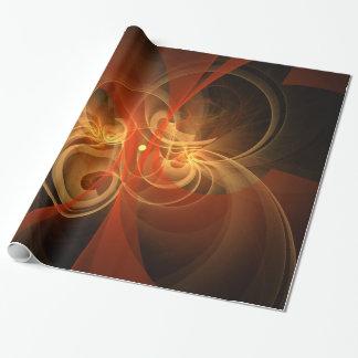 Arte abstracto mágico de la mañana papel de regalo